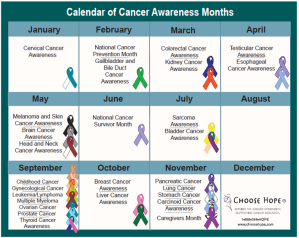 Awareness Month of Awareness Months Month - What is each month for Awareness Month?