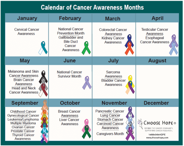 What is each month for Awareness Month?