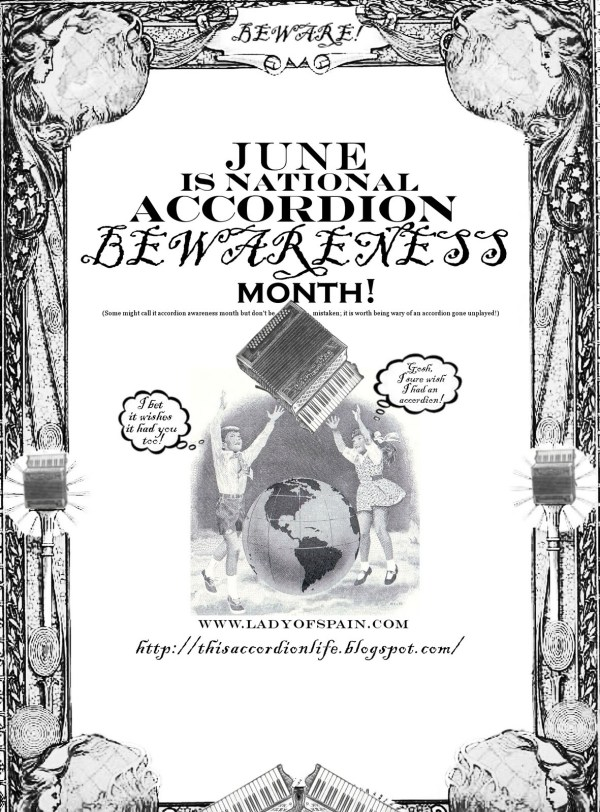 This Accordion Life: June is National Accordion BEWARENESS Month!
