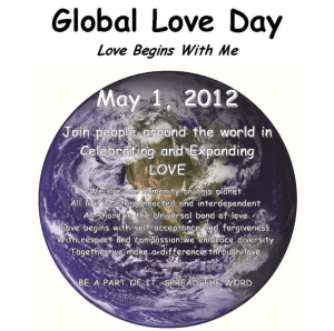 Global Love Day - Happy Global Love Day 2008!?