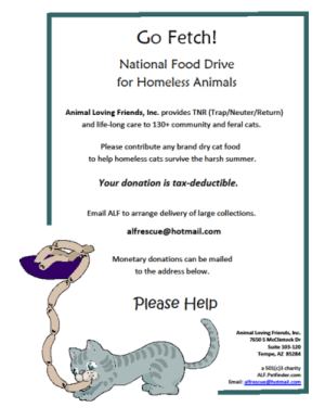 Go Fetch! Food Drive for Homeless Animals Month - Go Fetch Food Drive for