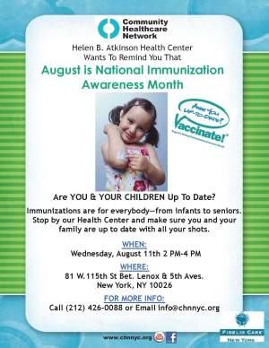 National Immunization Awareness Month - Months represents and the colors?
