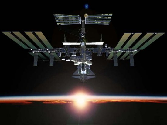 What directional trajectory does the international space station travel over south chicago ? What