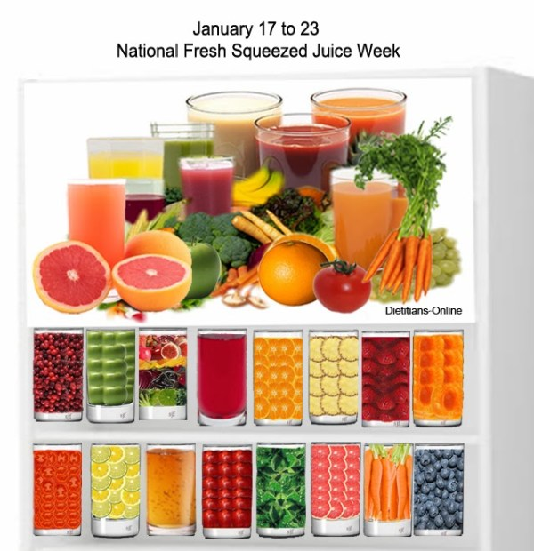 Dietitians Online Blog: January 17 to 23, National Fresh Squeezed ...