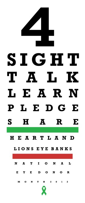 National Eye Donor Month - is there calendar displaying national recognition weeks?