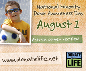 National Minority Donor Awareness Day - National Minority Donor Awareness Day. The nationwide observance is an