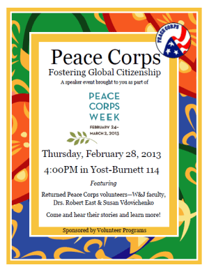 Peace Corps Week - Questions about the peace corps?