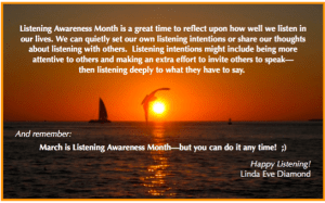 International Listening Awareness Month - i have poor general knowledge?