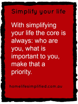 Simplify Your Life Week - how do i start to simplify my life?