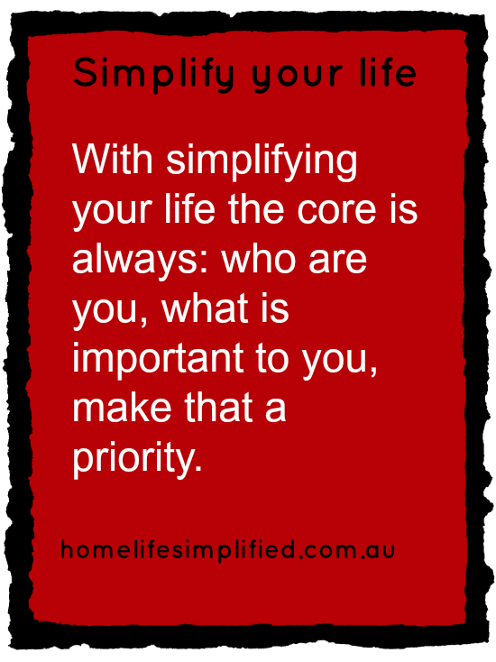 how do i start to simplify my life?