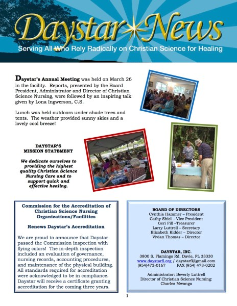 Daystar Annual Meeting  2016