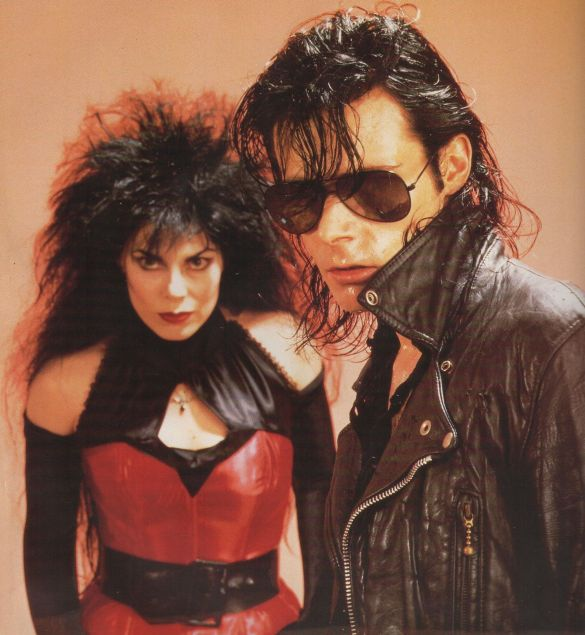 Patricia Morrison and Andrew Eldritch of The Sisters of Mercy.
