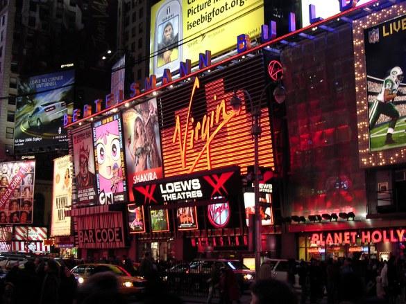 Virgin Megastore Times Square