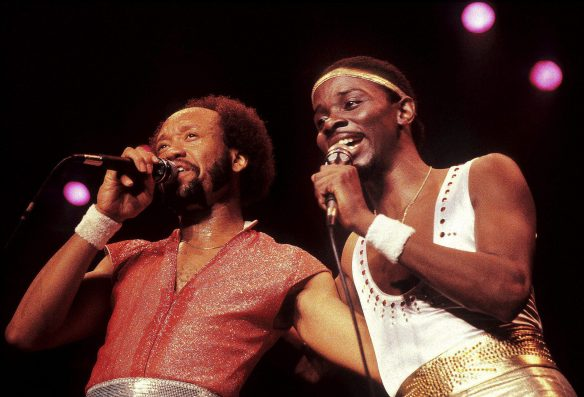 Maurice White and Philip Bailey of Earth, Wind and Fire