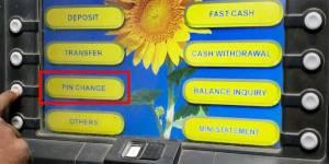 ChangeSbi Atm Card Pin Through Atm