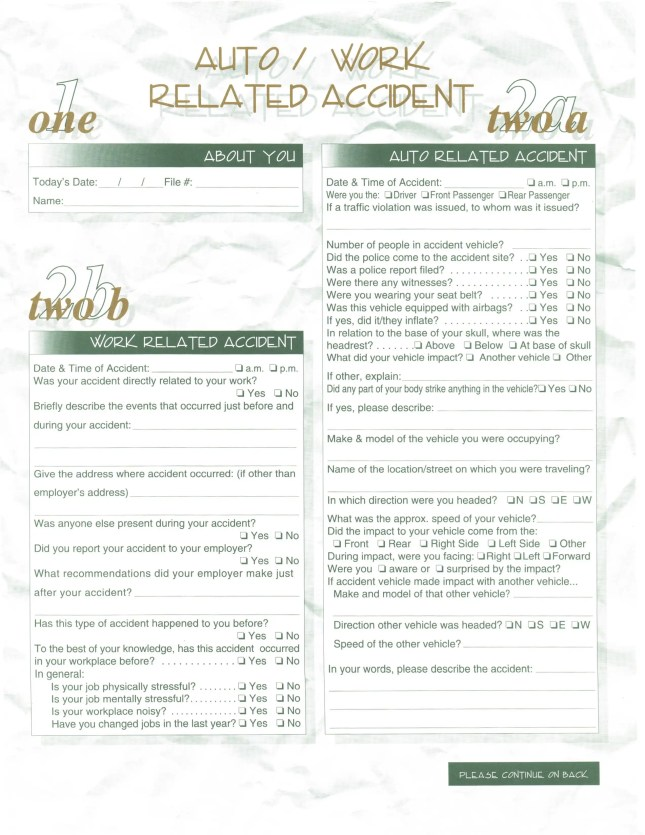 Centerville Chiropractic - Accident-Injury Form