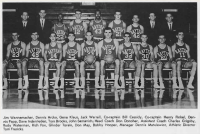 Yearbook Photo of the 1965-1966 Flyers Varsity team
