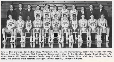 Yearbook Photo of the 1967-1968 Flyers Varsity team