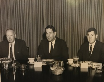 Image of Don Donoher with NCR's chief executive officers.