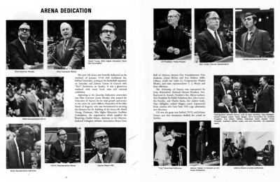 Picture which shows the dedication talks by many of those involved in the arena.