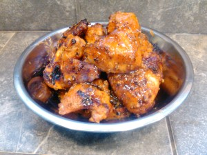 Tiki Hot Wings with Dayton Comestibles Corn Whiskey Mustard Grilling Recipe