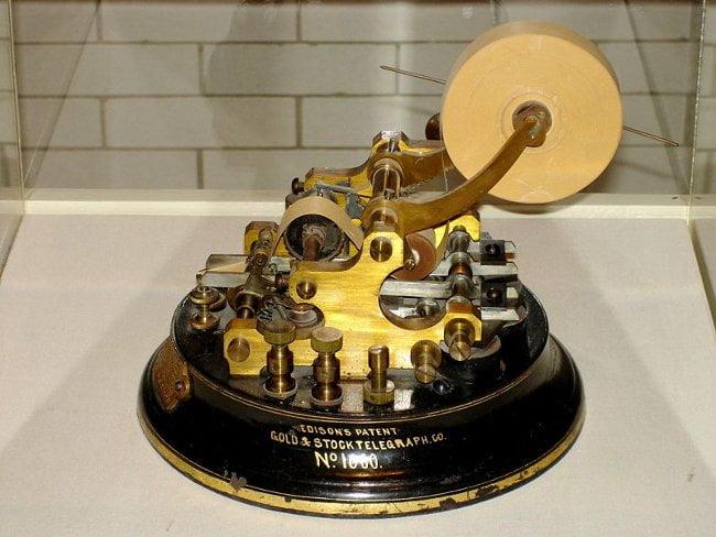Edison Stock Telegraph Ticker 1 Что подарить трейдеру на новый год ? 1