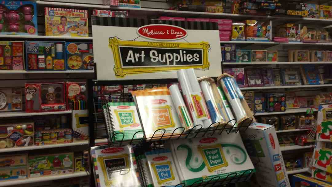 Art Supplies at ABC Toy Store