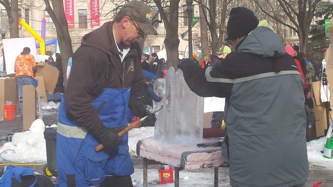 Ice Carving at the St Paul Winter Carnival