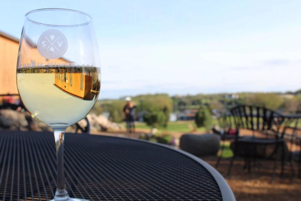 Wine at Schram Vineyard
