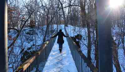 Swinging Bridge at Alexander Ramsey Park