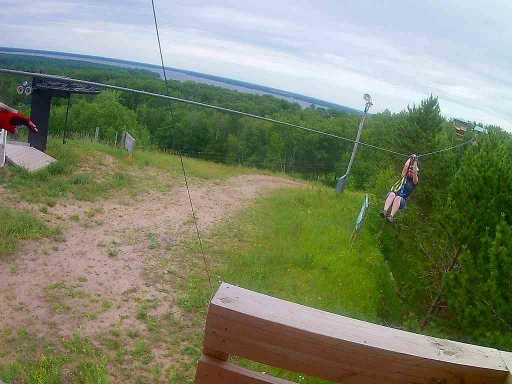 Zip Lining in Brainerd