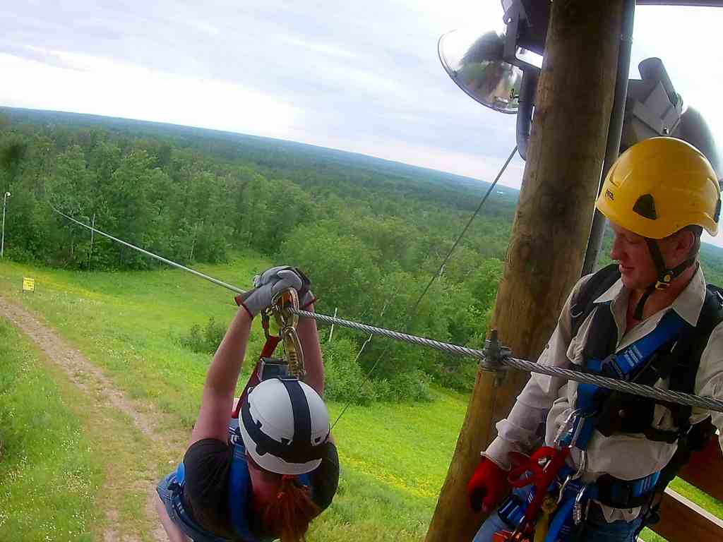 Read Set Zipline! Enjoying the Brainerd Zip Line