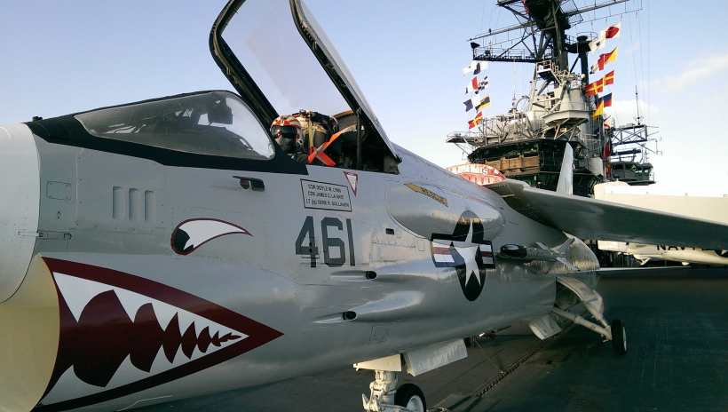 Fighter Plane aboard the USS Midway