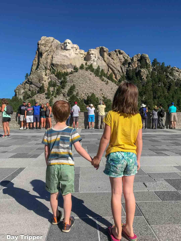 Kids at Mount Rushmore