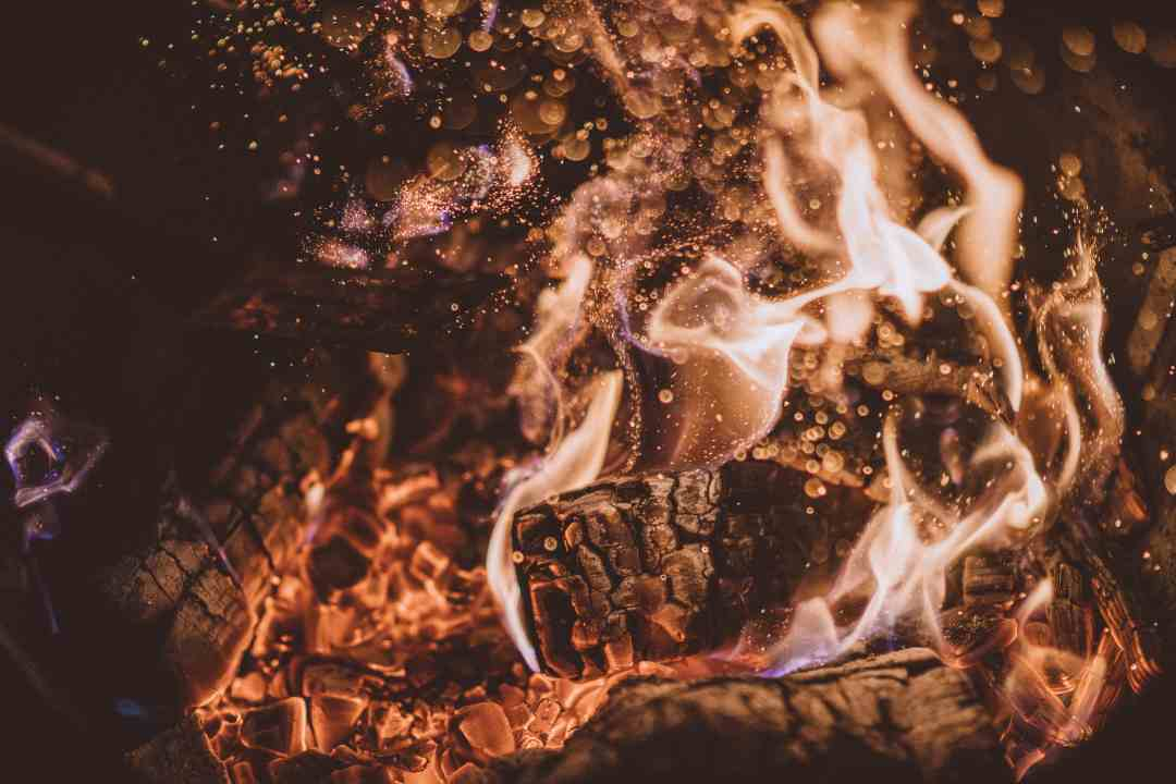 Coals perfect for the ultimate campfire smore.