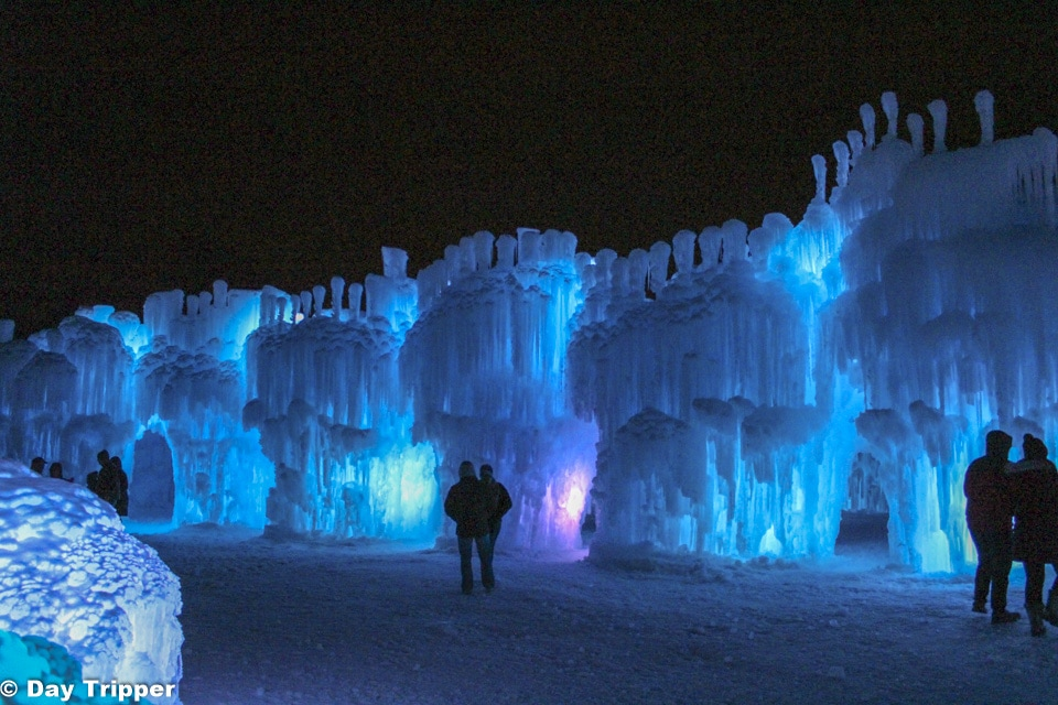 Inside the gates at the ice castles