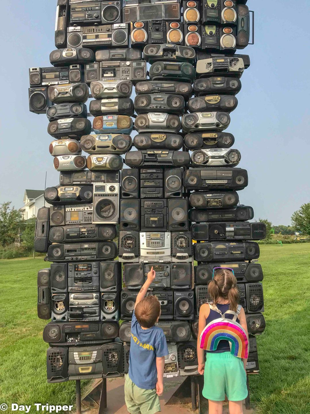 Recycling old items at Fanconia Sculpture Park