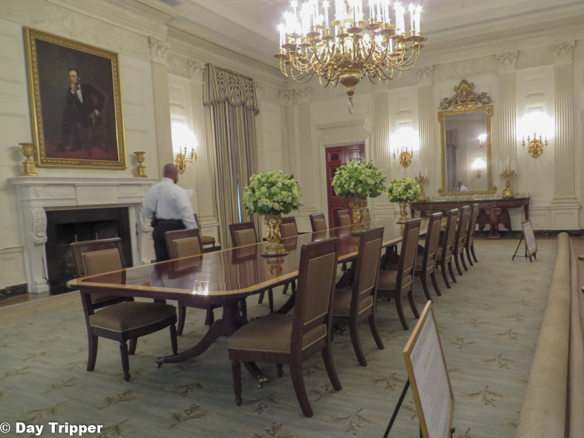 The State Dinning Room in the White House
