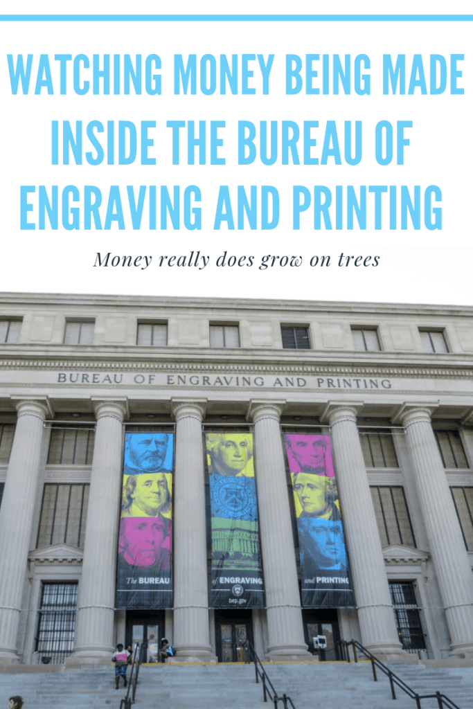 Watching money being made inside the Bureau Of Engraving And Printing.
