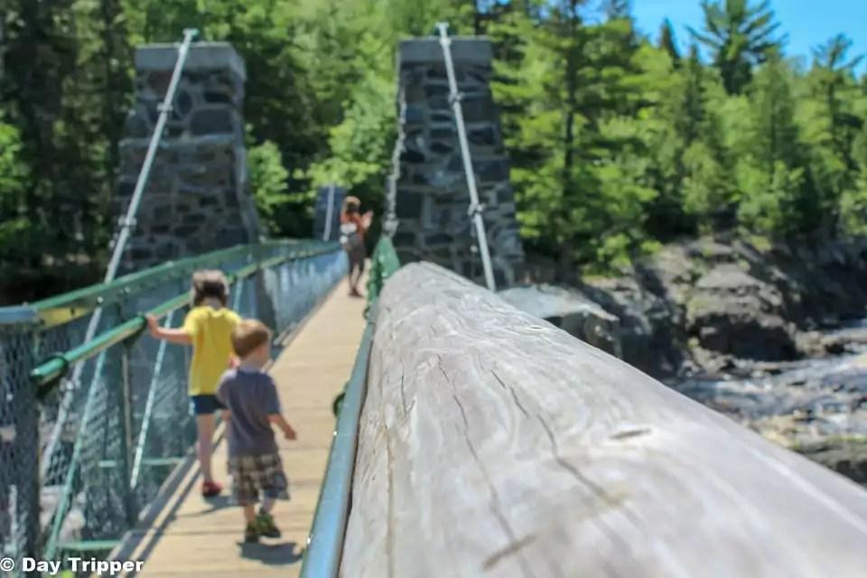 Swinging Bridge at Jay Cooke State Park