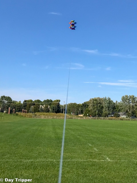 Flying a Kite as the Flying Cloud Soccer Fields