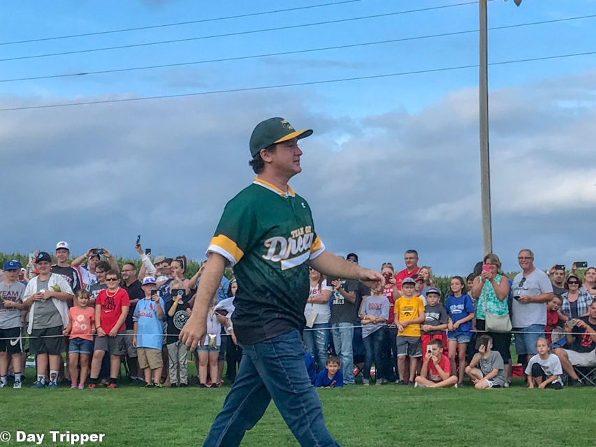 Tom Guiry (Smalls) from the Sandlot at the Field of Dreams Movie Site