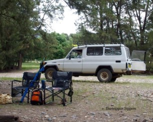 Landcruiser at Billy Grace Reserve, Wee Jasper, New South Wales, Australia