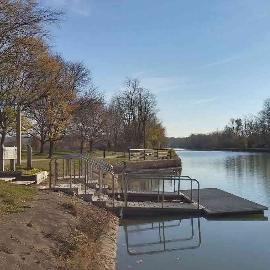 Water trails: Great Embankment Park Pittsford New York