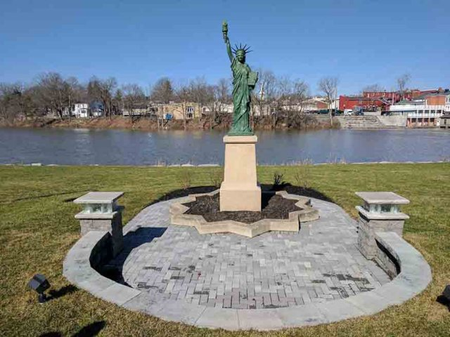 Statue of Liberty on Oatka Creek in LeRoy