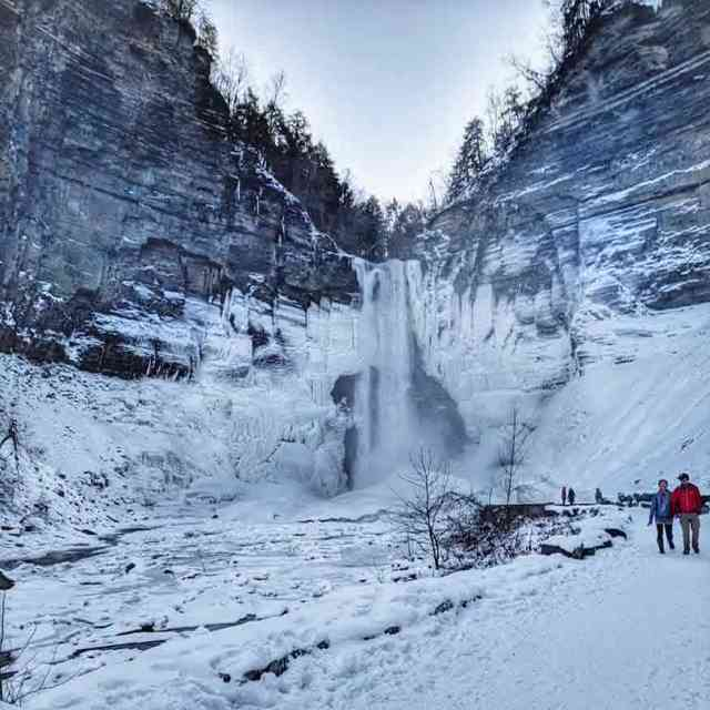 Taughannock Falls winter hiking