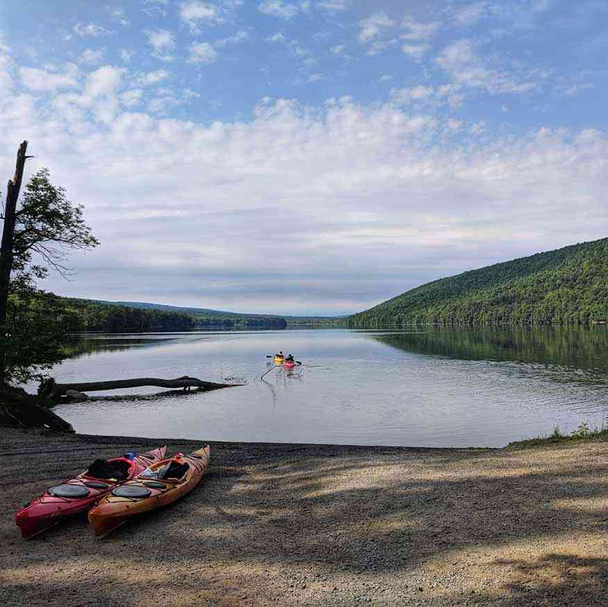 Free Rochester Day Trips - Canadice Lake kayaks