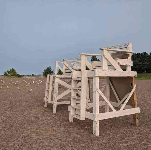 Hamlin Beach State Park lifeguard chairs