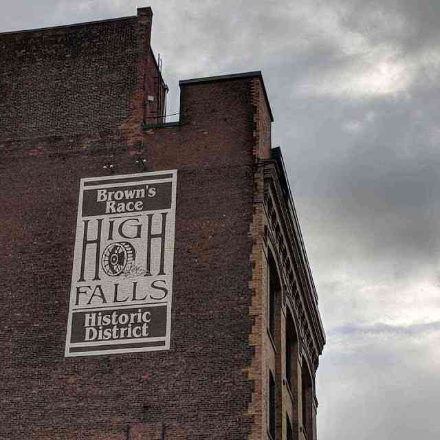 High Falls Rochester NY Genesee River Browns Race building
