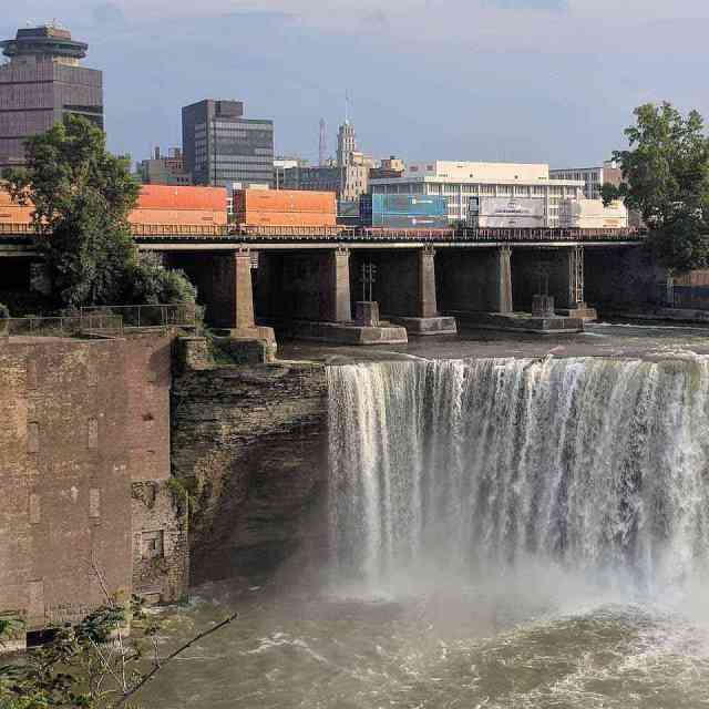 High Falls Rochester NY Genesee River waterfall
